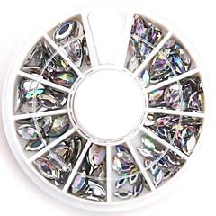 ネイルデザインの混合サイズは、明確な楕円形のネイルアートクリスタルアクリルラインストーンキラキラ偽のダイヤモンド