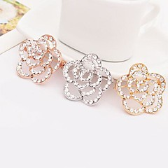 cheap Pins and Brooches-Brooches - Flower Stylish Brooch Gold / White / Rose Gold For Dailywear