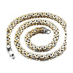 cheap Men's Jewelry-Men's Gold Plated Chain Necklace  -  Silver Gold / Silver Necklace For Wedding Party Daily