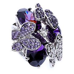 levne -Prsteny s kamenem Zirkon imitace Diamond Slitina Módní Fialová Šperky Párty 1ks