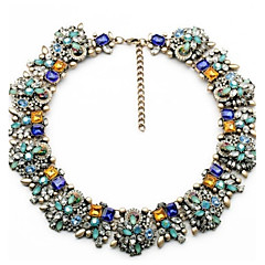 cheap Necklaces-Women's Flower Y-Necklace  -  Round Blue Necklace For Wedding Party Special Occasion