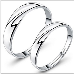cheap Couples' Jewelry-925 Couples' Silver Wedding Rings (2 pcs) Classical Feminine Style