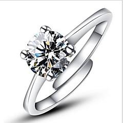 billige Motering-Dame Statement Ring Forlovelsesring - Sølv, Fuskediamant Kjærlighed Klassisk, Mote, Åpne Justerbar Sølv Til Bryllup Fest Engasjement