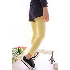 billige Bukser og leggings til piger-Baby Ensfarvet Bomuld Leggings