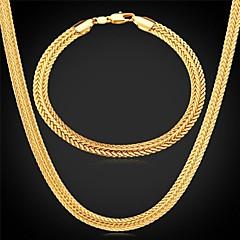 tanie Zestawy biżuterii-Dla obu płci Biżuteria Ustaw Zawierać Bransoletka Naszyjniki - Vintage Urocza Imprezowa Do biura Na co dzień Łańcuszek Stop Na