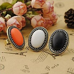 Women's Statement Rings Elegant Fashion Vintage Synthetic Gemstones Alloy Circle Jewelry For Party Daily Casual