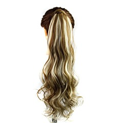 cheap Wigs & Hair Pieces-excellent quality synthetic clip in ponytail 24 inch long curly hair piece