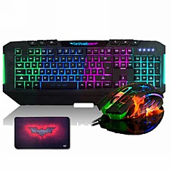 ajazz The Dark Knight 7 tastatur& 7 LED farger 2400 6 knapp gaming mus& Platesett sett