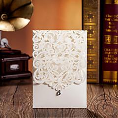 """baratos Convites de Casamento-Embrulhado e de Bolso Convites de casamento Cartões de convite Papel de Cartão 5 """"× 7 ¼"""" (12.7 * 18.4cm)"""