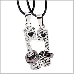 ieftine -Pentru femei Coliere Choker - Piele Inimă, Iubire Culoare ecran Coliere Pentru