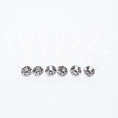 Χαμηλού Κόστους Κοσμήματα για τα Μαλλιά-Στρας Καλύμματα Κεφαλής / Τσιμπιδάκι με Φλοράλ 1pc Γάμου / Ειδική Περίσταση / Causal Headpiece
