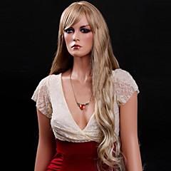 tanie Peruki syntetyczne-Peruka - Kobieta - Kędzierzawy/Naturalne fale/Luźne fale - Blond - Syntetyczny