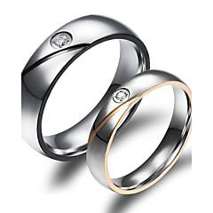 Gyűrűk Esküvő / Parti / Napi / Hétköznapi / Sport Ékszerek Arannyal bevont Pár Páros gyűrűk 2pcs,5 / 6 / 7 / 8 / 9 / 10Aranyozott /
