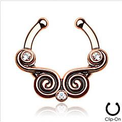 billige Kropssmykker-piercing smykker mote rustfritt stål krystall nese ring kroppen smykker piercing