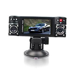 f600car DVR 2,7 polegadas ângulo de visão de 120 graus de 4x zoom digital de lente dupla