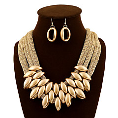 Women's Jewelry Set Drop Earrings Bib necklaces Tassel Statement Jewelry European Luxury Fashion Acrylic Fabric Jewelry Earrings Necklace