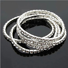 cheap Bracelets-Women's Rhinestone Alloy Jewelry Wedding Party Special Occasion Anniversary Birthday Engagement Gift Daily Casual Costume Jewelry Silver