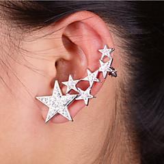 Ear Cuffs Modny Kryształ górski Stop Star Shape Silver Golden Biżuteria Na Impreza Codzienny Casual 1szt