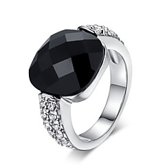 tanie -Duże pierścionki Kryształ Stop Modny minimalistyczny styl Silver Golden Biżuteria Impreza 1szt