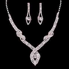 cheap -Women's Rhinestone Wedding Special Occasion Anniversary Birthday Engagement Gift Alloy Earrings Necklaces