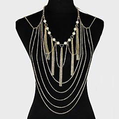 cheap Body Jewelry-Women's Body Jewelry Body Chain Alloy Unique Design Fashion Jewelry Golden Jewelry Party 1pc
