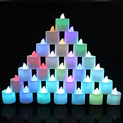 1 PCS Color-Changing Multicolor LED Tealight Candles Light Battery for Wedding Birthday Party Decoration