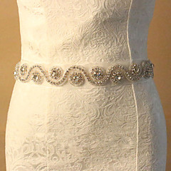 Lace Wedding Party / Evening Sash With Rhinestone Women's Sashes