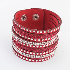 Žene Zamotajte Narukvice Umjetno drago kamenje Legura Moda Sive boje Rose Crvena Zelen Plava Jewelry 1pc