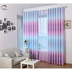 land curtains® et panel lilla blomster print gardin