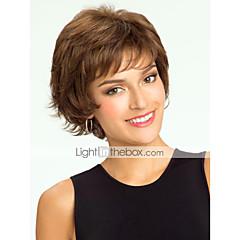 cheap Wigs & Hair Pieces-high quality human hair capless short curly mono top human hair wigs 12 colors to choose