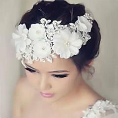 Lace Rhinestone Flowers Headpiece