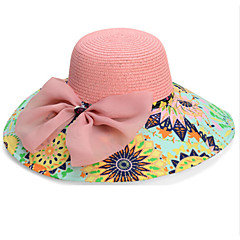cheap Party Hats-Women Basketwork Hats With Special Occasion/Casual Headpiece(More Colors)