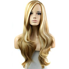cheap Synthetic Wigs-Synthetic Wig Side Part Highlighted/Balayage Hair Women's Blonde Carnival Wig Halloween Wig Black Wig Long
