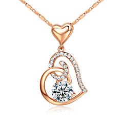 Naisten Riipus-kaulakorut Kristalli jäljitelmä Diamond Metalliseos Love Birthstones Korut Varten Party 1kpl