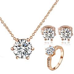 tanie Zestawy biżuterii-Damskie Kryształ Kryształ Cyrkonia Imitacja diamentu Biżuteria Ustaw Zawierać Náušnice Naszyjniki - Klasyczny Kryształ Cyrkonia Imitacja