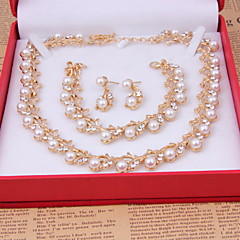 Women's Wedding Party Special Occasion Anniversary Birthday Engagement Gift Daily Alloy Earrings Necklaces Bracelets