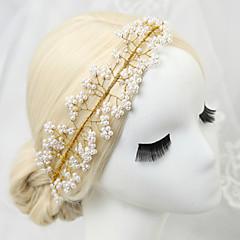 נשים נערת פרחים ריינסטון סגסוגת דמוי פנינה כיסוי ראש-חתונה אירוע מיוחד סרטי ראש חלק 1