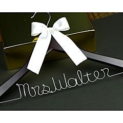 tanie Prezenty dla druhen-Drewniany Aluminum Alloy Pomysłowy Upominek Narzeczona Para Noszący pierścień Rodzice Ślub Gratulacje Dziękuję Ci