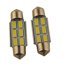cheap Car Interior Lights-39mm 36mm Car Light Bulbs 1.2W W SMD 5630 140lm lm 6 Reading Light
