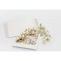 cheap -Women's Pearl Drop Earrings - Pearl, Imitation Pearl, Rhinestone Fashion White For Daily / Imitation Diamond