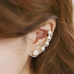 Damskie Ear Cuffs Modny Osobiste biżuteria kostiumowa Perłowy Imitacja pereł Cyrkonia Stop Biżuteria Na