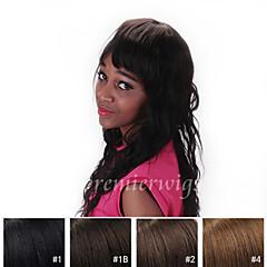 billiga Peruker och hårförlängning-Äkta hår Spetsfront Peruk Löst vågigt 130% Densitet 100 % handbundet Afro-amerikansk peruk Naturlig hårlinje Korta Mellan Lång Dam Äkta