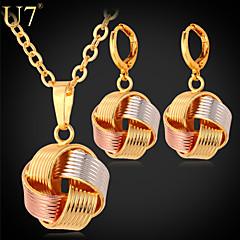 tanie Zestawy biżuterii-Damskie Różowe złoto / Pozłacane / Pokryte różowym złotem Urocza Biżuteria Ustaw Náušnice / Naszyjniki - Vintage / Imprezowa / Do biura