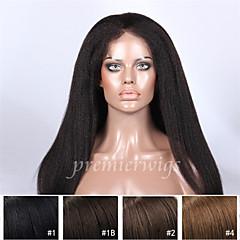 זול פיאות ותוספות שיער-שיער אנושי תחרה מלאה פאה ישר 130% צְפִיפוּת 100% קשירה ידנית פאה אפרו-אמריקאית שיער טבעי קצר בינוני ארוך בגדי ריקוד נשים פיאות תחרה משיער