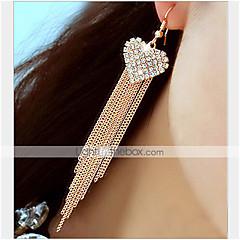 Kolczyki wiszące Miłość luksusowa biżuteria Kryształ górski sztuczna Diament Stop Heart Shape Biżuteria Na Impreza Codzienny 1 para
