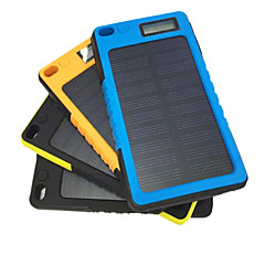 billige Eksterne batterier-strømbank eksternt batteri 5V 2.0A #A Batterilader Lommelykt Solenergilading Støvtett Støtsikker Vanntett LCD