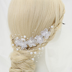 cheap Hair Jewelry-Chiffon Imitation Pearl Alloy Hair Combs Headpiece Elegant Style