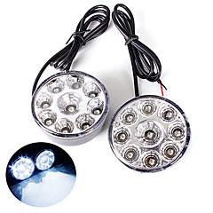 billiga LED-lampor för bil-1st ding Yao 9w 9x cob 650lm 6000-7000k 12v enda sälja