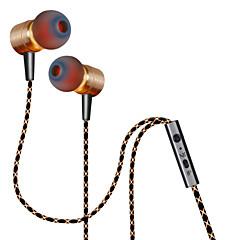 billiga Hörlurar med öronsnäckor-Plextone I öra Kabel Hörlurar Aluminum Alloy Mobiltelefon Hörlur Med volymkontroll / mikrofon headset