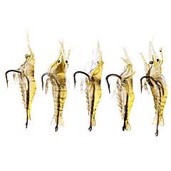 cheap Fishing Lures & Flies-20 pcs Soft Bait Fishing Lures Craws / Shrimp Soft Bait Silicon Bait Casting Freshwater Fishing General Fishing Lure Fishing Bass Fishing